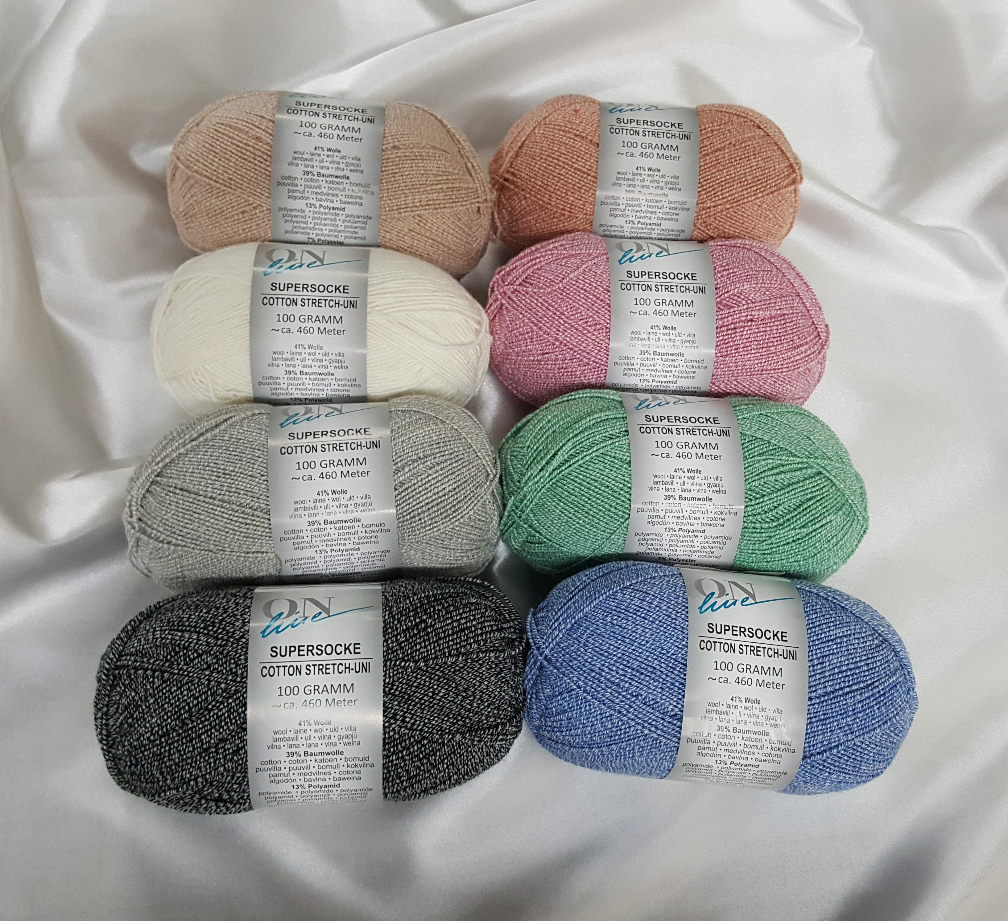 Supersock stretch cotton